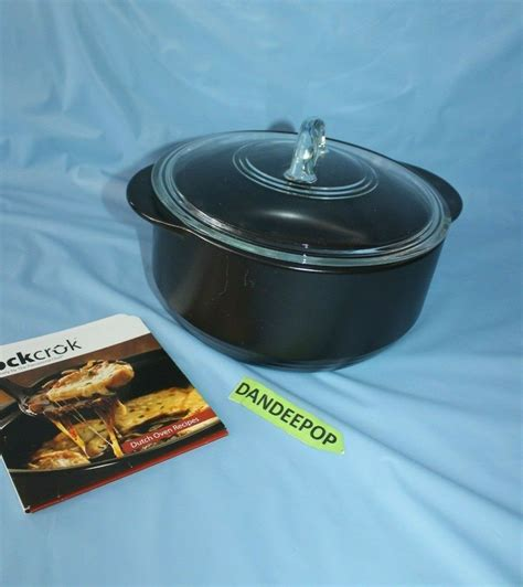 pampered chef oven dutch rockcrok quart cookware seller 8l c15 lid pot