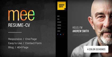 mee responsive resume personal portfolio by themezaa