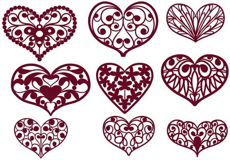 Unzip folder, extract all files and save to device or new folder. Free Cutout Hearts Vectors - Download Free Vector Art ...