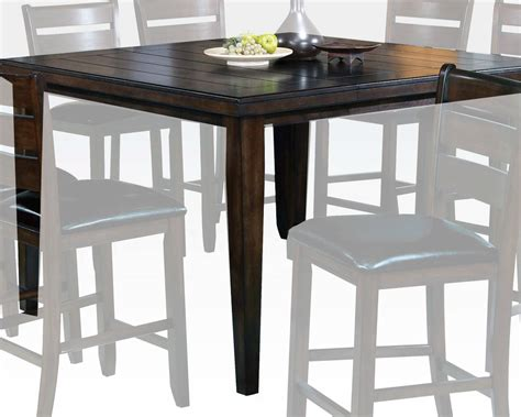 espresso counter height table espresso color counter height table urbana by acme ac74630