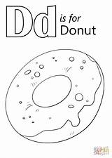 Donut Coloring Letter Printable Pages Worksheets Drawing Preschool Alphabet Dinosaur Doughnut Worksheet Sheet Bestcoloringpagesforkids Sheets Learning Letters Kindergarten Getcolorings Dot sketch template
