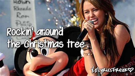 miley cyrus rockin around the christmas tree with