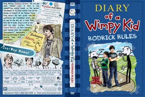 Diary Of A Wimpy Kid Rodrick Rules Movie Dvd Custom