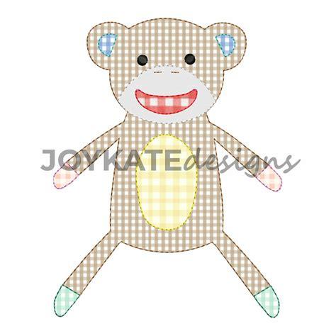 monkey applique vintage bean stitch monkey applique design kate designs