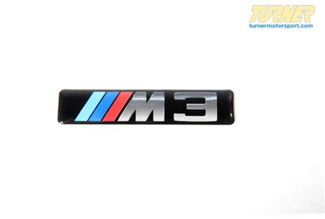 51137893023  Side Grille Emblem With M3 Logo  E46 M3