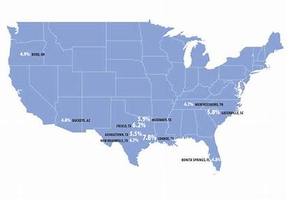 Texas Cities Migration Fastest Growing Map Comptroller