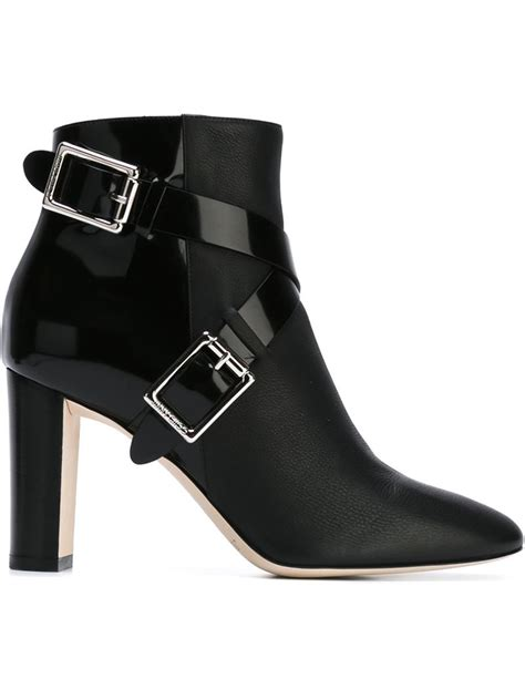 zip side ankle boots jimmy choo 39 39 ankle boots in black lyst
