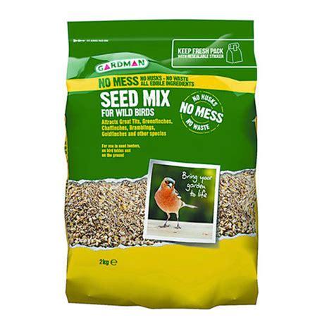 gardman no mess seed mix for wild birds 2kg bosworths