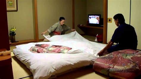 2303 traditional japanese bed futon setup by the pros at japanese hotel onsen ryokan