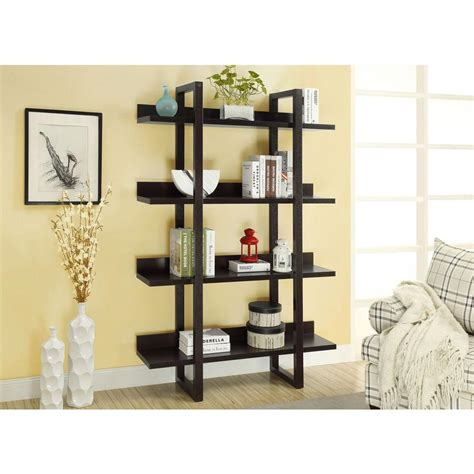 Etagere Shelf by Monarch Specialties 71 In H 4 Shelf Open Concept Display