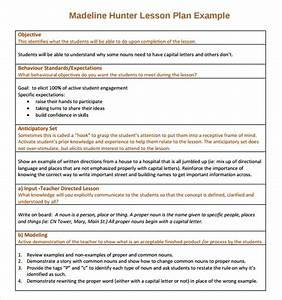 sample madeline hunter lesson plan template 7 free With lausd lesson plan template