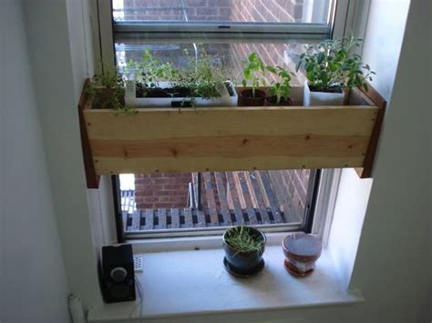 Indoor Herb Pots Window Box by Herb Planter Box For The Kitchen Easy Install Herb