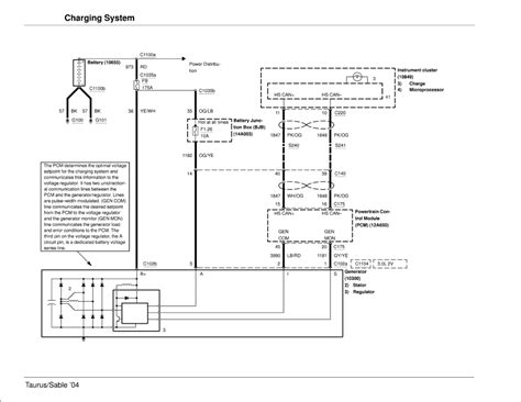need wiring diagram for 2004 taurus charging system
