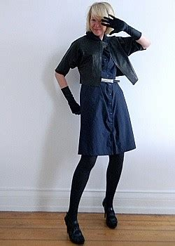 blaues kleid strumpfhose