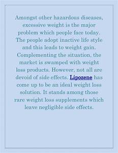 Lipozene  An Excellent Weight Reduction