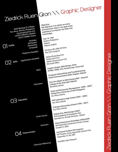 Top Creative Resume Designs by 25 Creative Resume Designs That Will Make You Rethink Your Cv