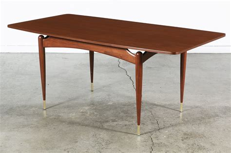 floating tables mid century floating top walnut dining table vintage