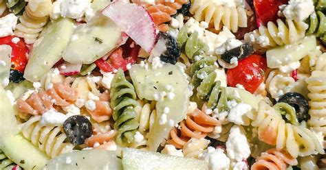 tri color pasta tri color pasta salad with olive