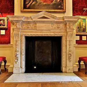 """Marble fireplace in the """"Red Room"""" of The Cumberland"""