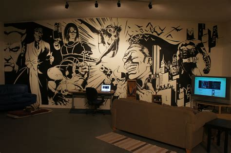 Comic Wall Decor by Batman Wall Mural On Inspirationde