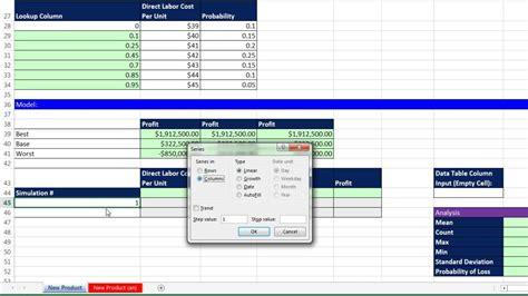 basic excel business analytics  monte carlo simulation