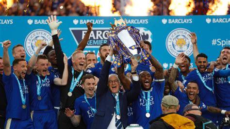 Vardy scores two as Leicester City lift Premier League title