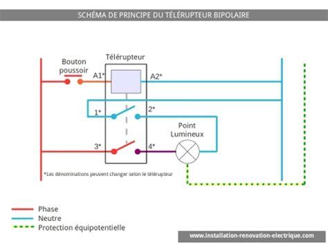 le schema electrique du telerupteur bipolaire
