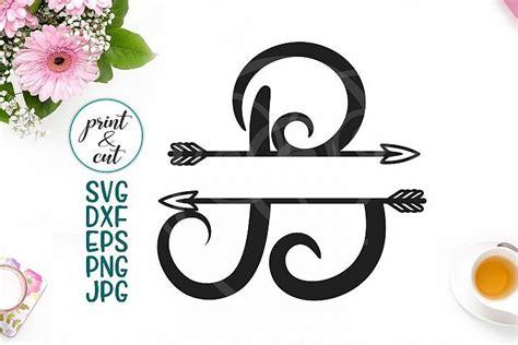 monogram letter  svg file split font  arrows  monograms design bundles