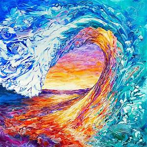 Wave Of Creativity Painting by Susan Card
