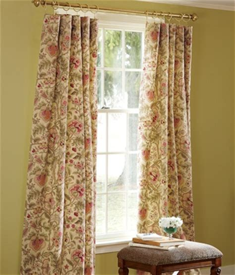 jacobean floral lined rod pocket curtains hatfield lined rod pocket curtains country curtains
