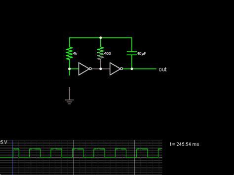 Inverter Oscillator Circuit Simulator