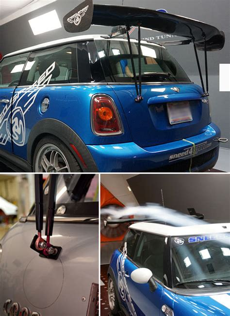 mini cooper race ready adjustable rear wing mini cooper