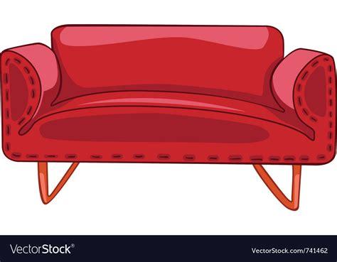 sofa vector cartoon home furniture sofa royalty free vector image