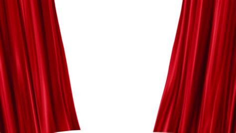 24 Length Curtains by Red Velvet Stage Curtains Open To Reveal Green Screen Png