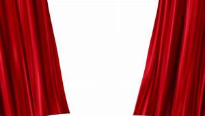 red velvet stage curtains open to reveal green screen png With open red curtain background