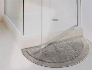 Tapis de bain bath demi lune for Tapis de bain pour douche arrondie