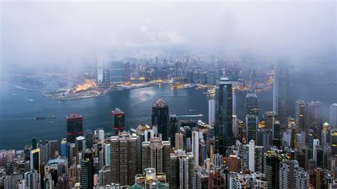 cityscape mist hong kong hd wallpapers desktop