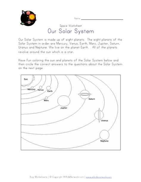 space worksheets for kindergarten astronomy and space k