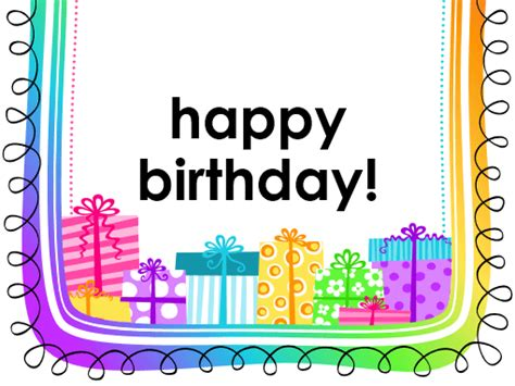 birthday card gifts  white background  fold