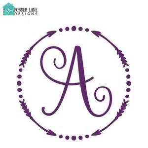 Circle Monogram Decal with Arrows