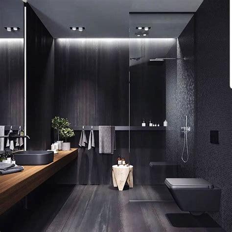 exquisite black bathroom design ideas