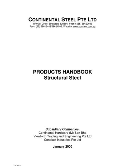 Continental Steel Catalog(R) | Structural Steel