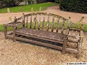 Banc Jardin Bois : l 39 entretien du mobilier de jardin en bois ~ Teatrodelosmanantiales.com Idées de Décoration