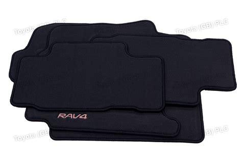 floor mats toyota rav4 genuine toyota 4x tailored car textile floor mats rav4 11 05 12 08 anthracite ebay
