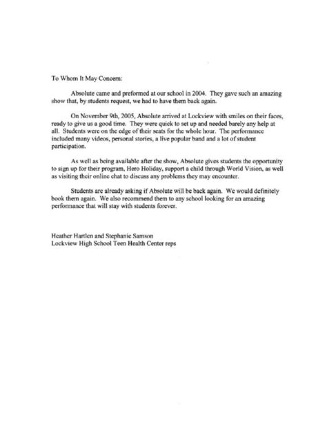recommendation letter for student recommendation letters for high school students sles 8450