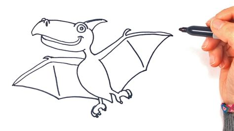 draw  flying dinosaur step  step drawings