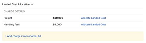 landed costs knowledge base zoho inventory