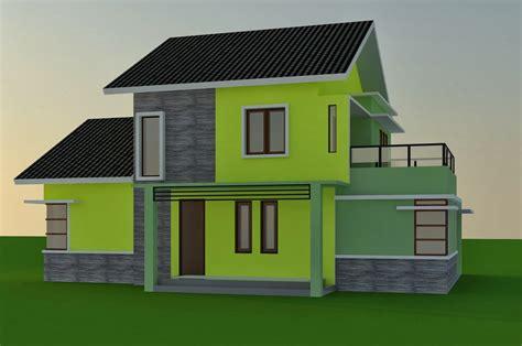 contoh warna cat rumah bagian depan renovasi rumahnet