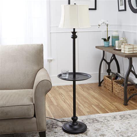 jobe industrial floor lamp  tray table  usb port