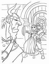 Coloring Pan Frying Pages Tangled Defense Colorkid sketch template